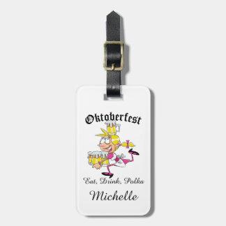 Etiqueta De Bagagem Barmaid de Oktoberfest