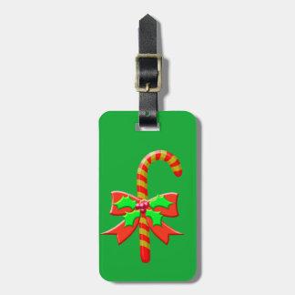 Etiqueta De Bagagem Bastão do Natal