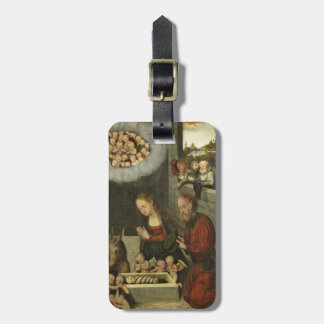 Etiqueta De Bagagem Bebê adorador Jesus dos pastores por Cranach