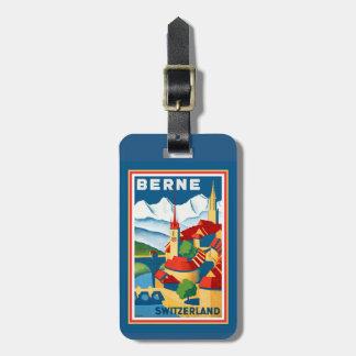 Etiqueta De Bagagem Berne, Tag da bagagem da suiça
