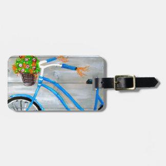 Etiqueta De Bagagem Bicicleta azul Zazzle