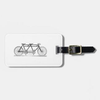 Etiqueta De Bagagem Bicicleta do vintage construída para