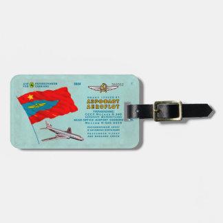 Etiqueta De Bagagem Bilhete do passageiro de Aeroflot