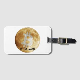 Etiqueta De Bagagem Bitcoin ao Tag da bagagem da lua