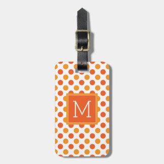 Etiqueta De Bagagem Bolinhas da laranja do monograma |