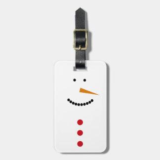 Etiqueta De Bagagem Boneco de neve minimalista