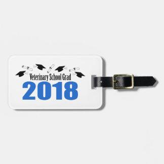 Etiqueta De Bagagem Bonés & diplomas do formando 2018 da escola
