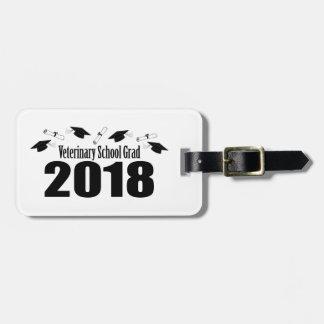 Etiqueta De Bagagem Bonés do formando 2018 da escola veterinária &