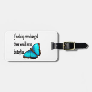 Etiqueta De Bagagem Borboleta de monarca