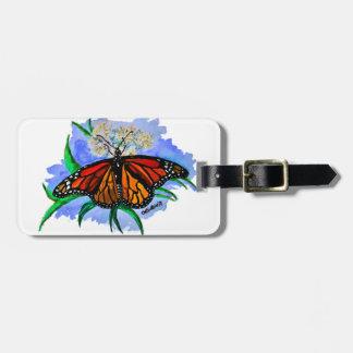 Etiqueta De Bagagem Borboletas de monarca