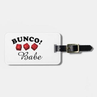 Etiqueta De Bagagem Borracho de Bunco todo o Sixes
