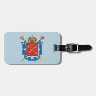Etiqueta De Bagagem Brasão de St Petersburg