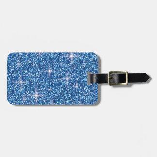 Etiqueta De Bagagem Brilho iridescente azul