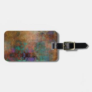 Etiqueta De Bagagem Bronze, cerceta, abstrato do roxo