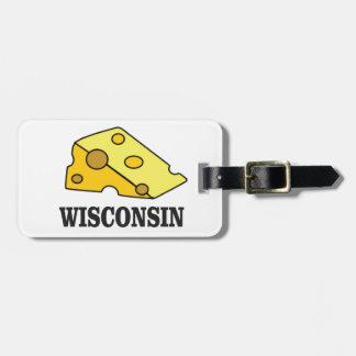 Etiqueta De Bagagem Cabeça do queijo de Wisconsin