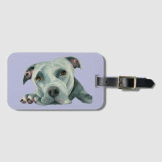 Etiqueta De Bagagem Cabeça grande de Ol - pintura da aguarela do cão