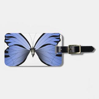 Etiqueta De Bagagem Caçador azul do Azure da borboleta 2