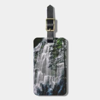 Etiqueta De Bagagem Cachoeira na floresta, Oregon