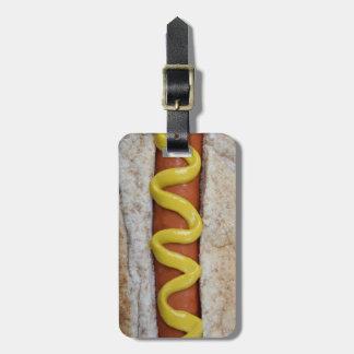 Etiqueta De Bagagem cachorro quente delicioso com fotografia da