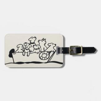 """Etiqueta De Bagagem """"Cães Tag da bagagem no barco"""" por"""