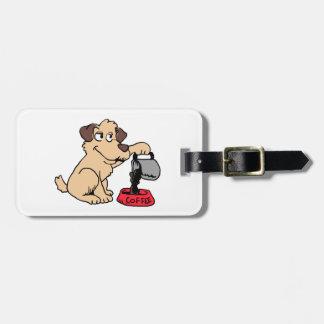 Etiqueta De Bagagem Café do serviço do cão