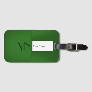 Etiqueta De Bagagem Caixa verde profissional moderna - Tag da bagagem