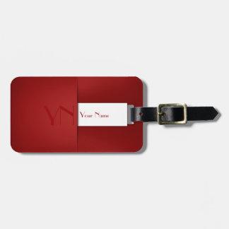 Etiqueta De Bagagem Caixa vermelha profissional moderna - Tag da