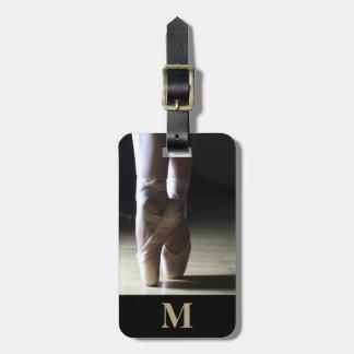 Etiqueta De Bagagem Calçados da dança de dedo do pé do balé do viagem