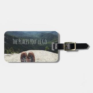 Etiqueta De Bagagem Caminhada sobre o Tag VII da bagagem do mundo