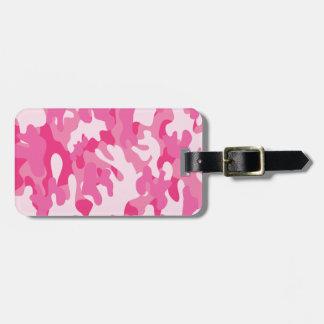 Etiqueta De Bagagem Camo cor-de-rosa bonito