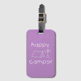 Etiqueta De Bagagem Campista feliz (branco)