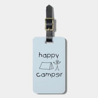 Etiqueta De Bagagem Campista feliz (preto)