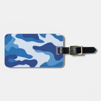Etiqueta De Bagagem Camuflagem azul