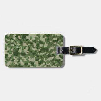 Etiqueta De Bagagem Camuflagem militar do verde da selva