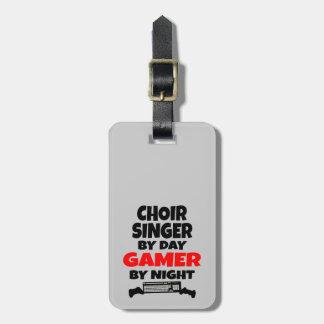 Etiqueta De Bagagem Cantor do coro pelo Gamer do dia em a noite