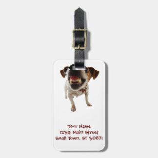 Etiqueta De Bagagem Cão agressivo - cão irritado - cão engraçado