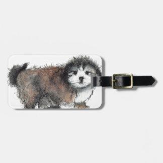 Etiqueta De Bagagem Cão de filhote de cachorro de Shihtzu, animal de