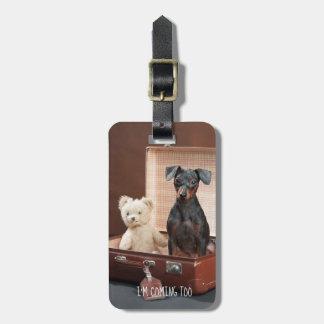 Etiqueta De Bagagem Cão engraçado TAG personalizado da bagagem