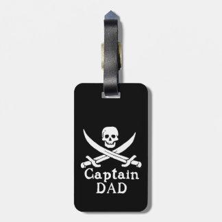 Etiqueta De Bagagem Capitão Pai - clássico