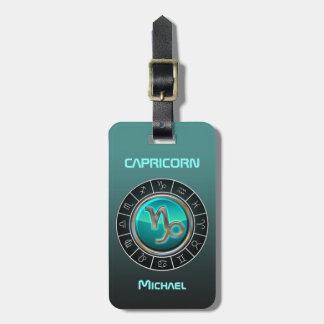 Etiqueta De Bagagem Capricórnio - o símbolo do zodíaco da cabra