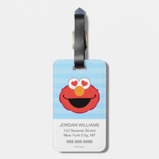 Etiqueta De Bagagem Cara de sorriso de Elmo com olhos Coração-Dados