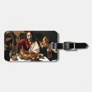 Etiqueta De Bagagem Caravaggio - ceia em Emmaus - pintura clássica