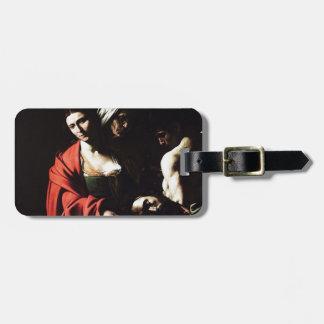 Etiqueta De Bagagem Caravaggio - Salome - trabalhos de arte barrocos