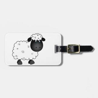 Etiqueta De Bagagem Carneiros do bebê para a ovelha