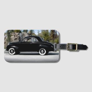 Etiqueta De Bagagem Carro 1939 do clássico do vintage do cupé de Merc