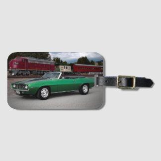 Etiqueta De Bagagem Carro 1969 clássico convertível de Chevy Camaro