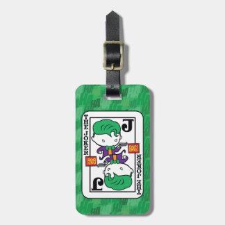 Etiqueta De Bagagem Cartão de jogo do palhaço de Chibi