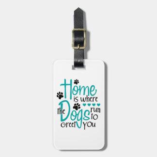 Etiqueta De Bagagem Casa com cão