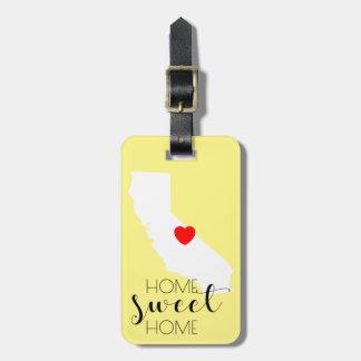 Etiqueta De Bagagem Casa doce Home   Califórnia