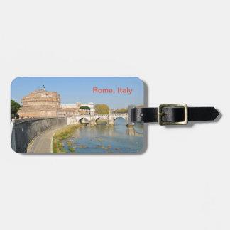 Etiqueta De Bagagem Castelo de Sant'Angelo em Roma, Italia